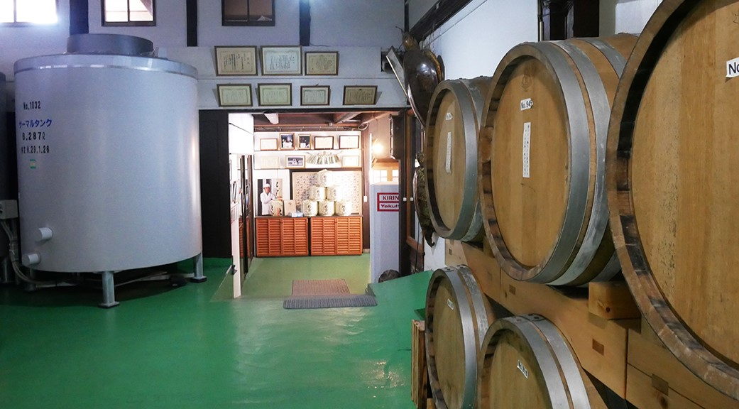 Shochu in Wooden Brandy Barrels